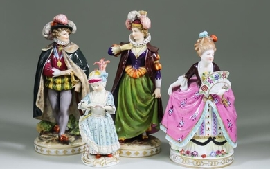 A Meissen Porcelain Figure of a girl with sheet...