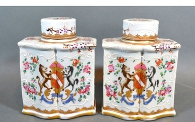 A Pair of late 19th Century French possible Samson porcelain...