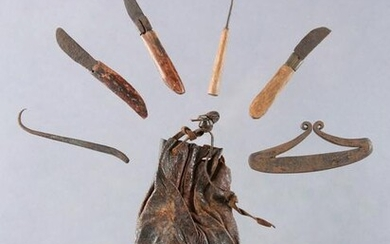 A Senufo Pouch with Medical Instruments