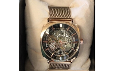 A boxed new quality men's automatic wrist watch