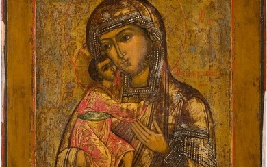 AN ICON SHOWING THE FEODOROVSKAYA MOTHER OF GOD Russian,...