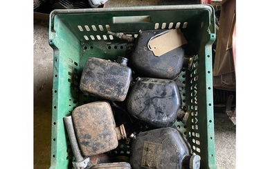 Assorted Velocette spares: Various oil tanks , MAC and late...