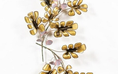 C. JERE MIXED METAL & PAINTED BRANCH SCULPTURE