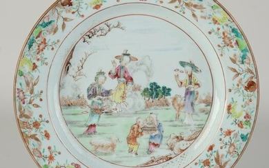 Chinese Family Rose plate Ø 22.8 cm.