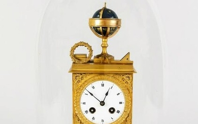 Empire pendulum, bronze, gilt as we