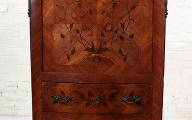 FRENCH LOUIS XV STYLE SECRETARY DESK MARBLE TOP