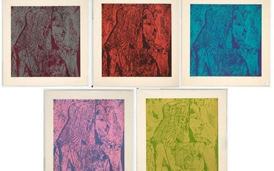 Gary Riester, Suite of Five Prints - Untitled (Egyptian