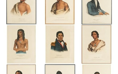 Grp: 9 McKenney and Hall Hand-Colored Lithographs