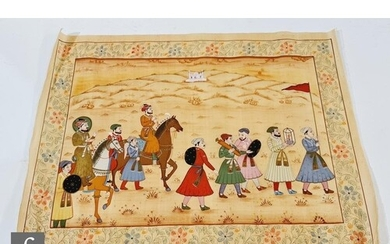 INDIAN SCHOOL (EARLY 20TH CENTURY) - A prince with courtiers...