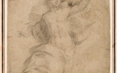 Lanfanco, Giovanni (1582-1647), Attributed to. A Study for the Transfiguration, black chalk