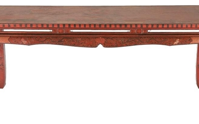 Large Chinese Lacquer Table