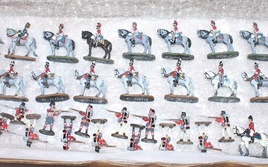 Lot details A collection of Relive Waterloo 28mm scale...