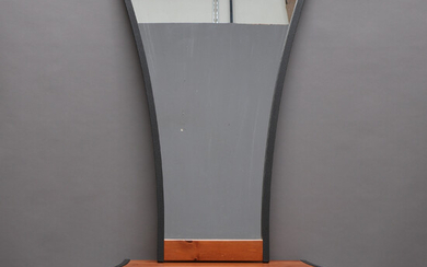 MIRROR WITH TABLE, wood & metal, contemporary.