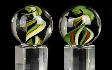 MURANO MANUFACTURE Glass marbles Two pieces Glass, 20 x 10...