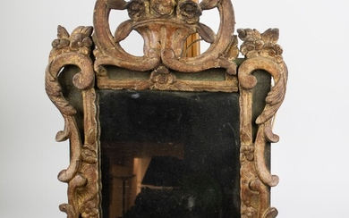 Mirror with wooden frame 18th century period Régence