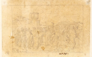 NEOCLASSICAL ARTIST, EARLY 19th CENTURY Composition study for a Delivery...