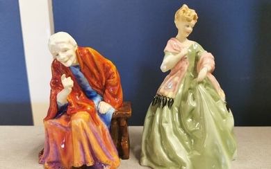 Pair of Early Royal Worcester Freda Doughty Figures inc The ...