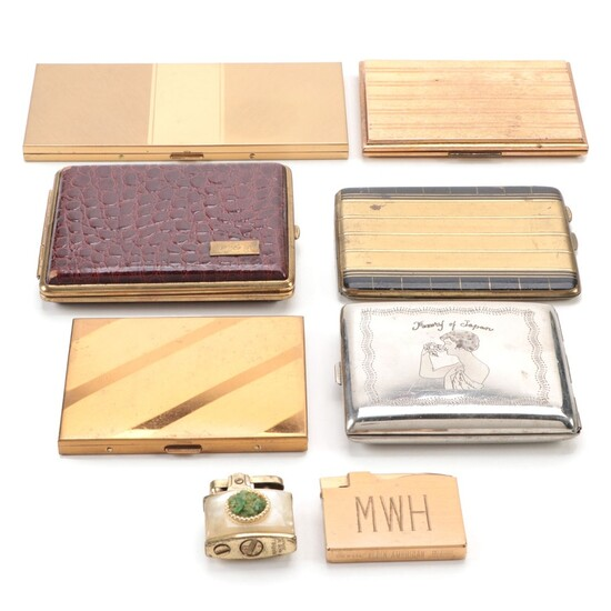 Pilcher, Elgin American, Marhill, and Other Cigarette Cases and Lighters