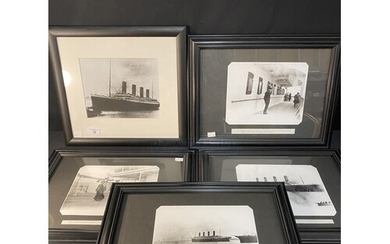 R.M.S. TITANIC: Reprinted black and white photographs from t...