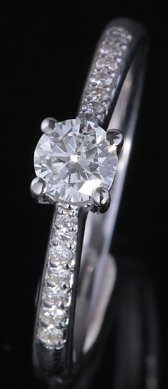 Ring in 14kt with brilliant cut diamonds 0.50ct