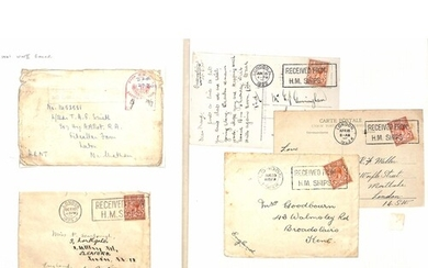 """Royal Navy. 1922-93 Covers and cards with various """"Received ..."""