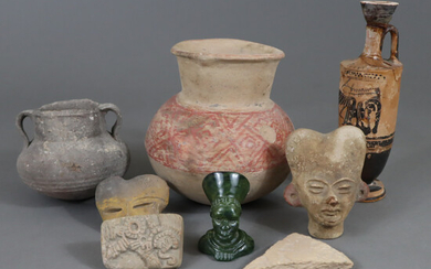 TERRACOTTA LOT - probably replicas, mostly based on pre-Columbian models.