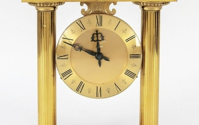 Table clock brass gilded with