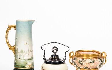 Three Pieces of Glass and Ceramic Tableware