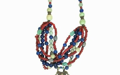 Vintage Mongolian Bead Necklace