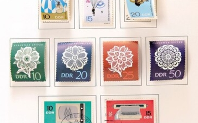 collection of Stamps, GDR, 1949-1990, extensive, only clean...