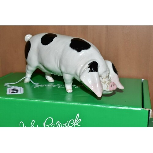 A BESWICK RARE BREED GLOUCESTER OLD SPOT, No 4116, designed ...