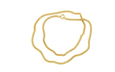 A CURB-LINK NECKLACE