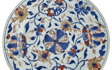 A Chinese Imari-Palette Porcelain Charger