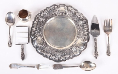 A Group of Sterling Tableware