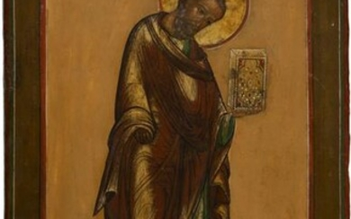 A LARGE ICON SHOWING ST. MARK THE EVANGELIST