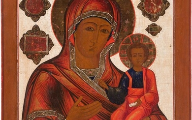 A MONUMENTAL ICON SHOWING THE SMOLENSKAYA MOTHER OF GOD Russian,...