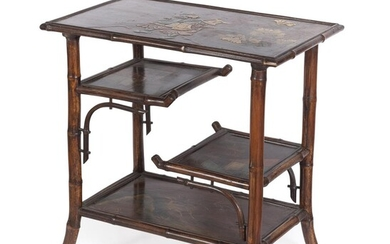 A SMALL LAQUER WOOD TABLE. EARLY 20TH CENTURY