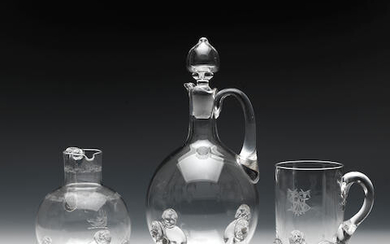 A claret jug from John Ford's Holyrood Glassworks