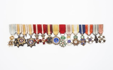 A group of insignias and miniatures