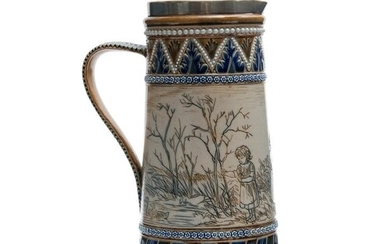 A late 19th Century Doulton Lambeth jug decorated by Hannah ...