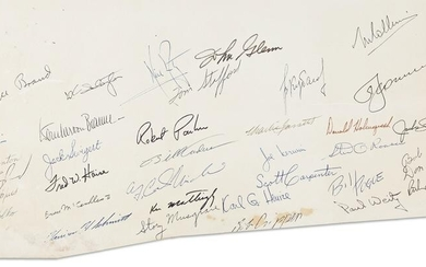 (ASTRONAUTS.) Signatures by over 30 astronauts