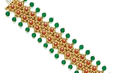 Aletto Brothers | Gold, Coral, Chalcedony and Diamond Bracelet