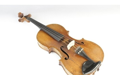 An unlabelled violin, possibly German, probably late 19th or...