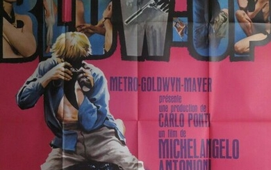 Blow up (1967) By Michelangelo Antonioni with David Hemmings, Vanessa Radegrave Poster 1.20 × 1.60 m Drawing by G Kerfyser, Palme d'or Festival de Cannes