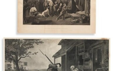 (CIVIL WAR.) Two engraved scenes of familial joy and