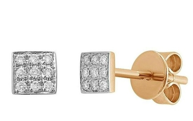 Earrings Yellow Gold 14 K (Matching Ring Available)
