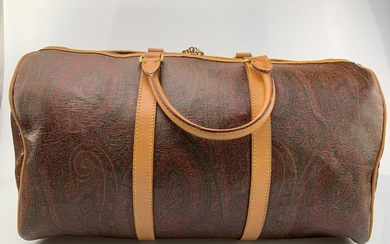 Etro - Unisex MaxiPaisley Pattern Leather Boston - Travel bag
