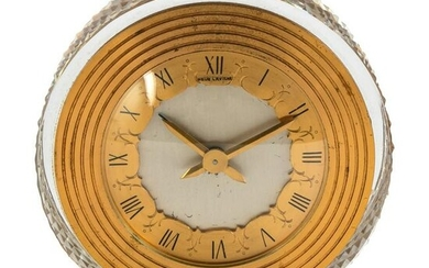 Hour Lavigne French Dore Bronze and Crystal Clock