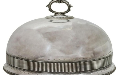 LARGE ANTIQUE ENGLISH SILVERPLATE MEAT DOME