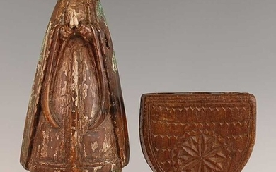 Lot details * A large carved limewood? figure of...
